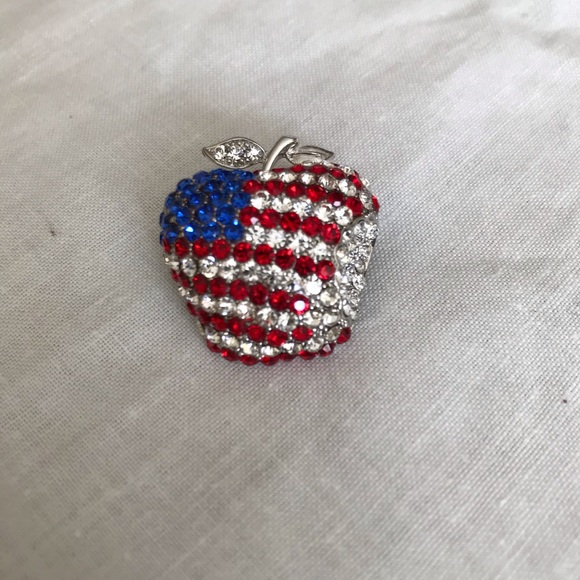 Jewelry - The patriotic apple brooch